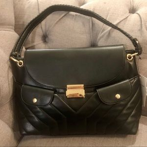 bbe811b436 NWT Gussaci Black Vegan Leather Black Purse